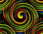 digital multi color swirls image