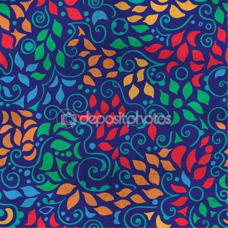 seamless pattern multi color swirls