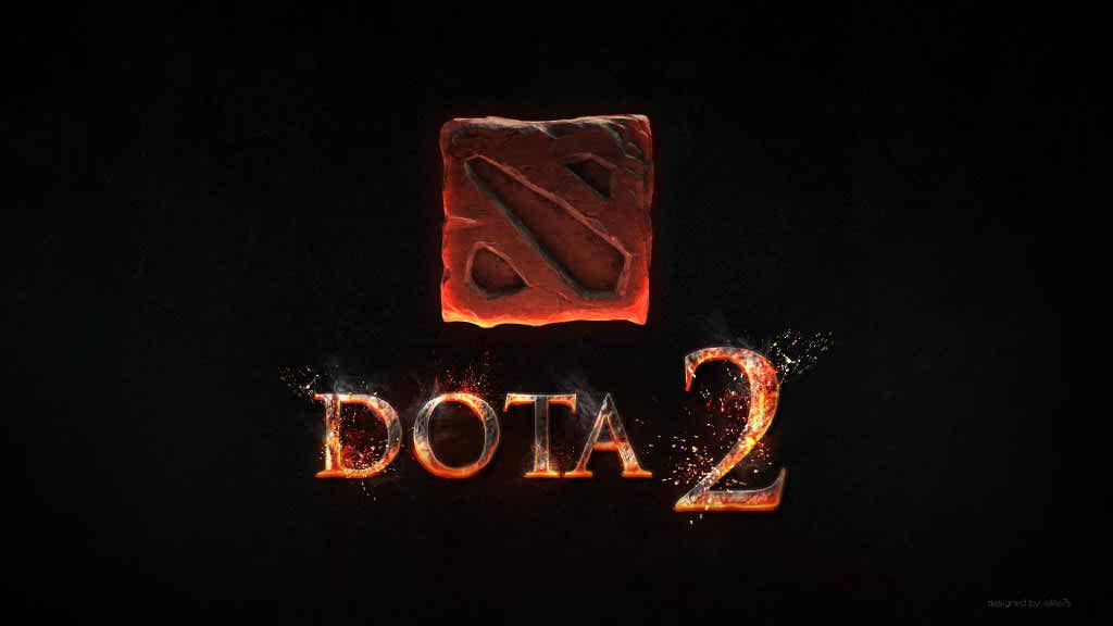 animated dota 2 logo wallpaper