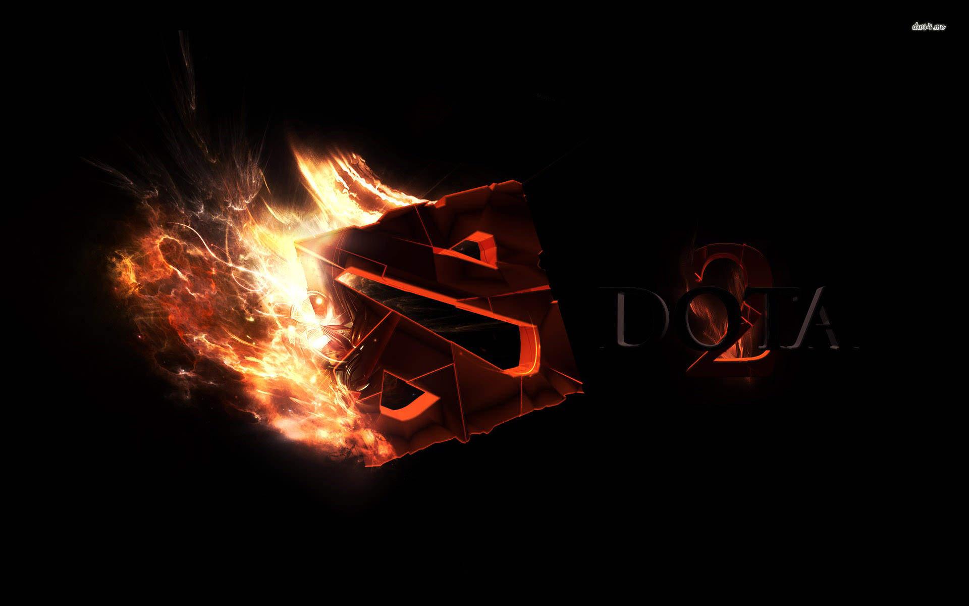 fire dota 2 logo wallpaper