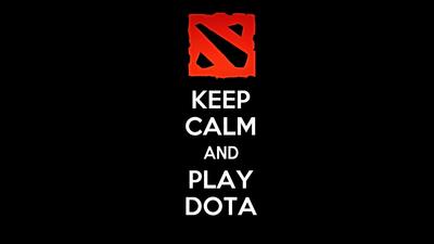 keep calm dota 2 logo wallpaper