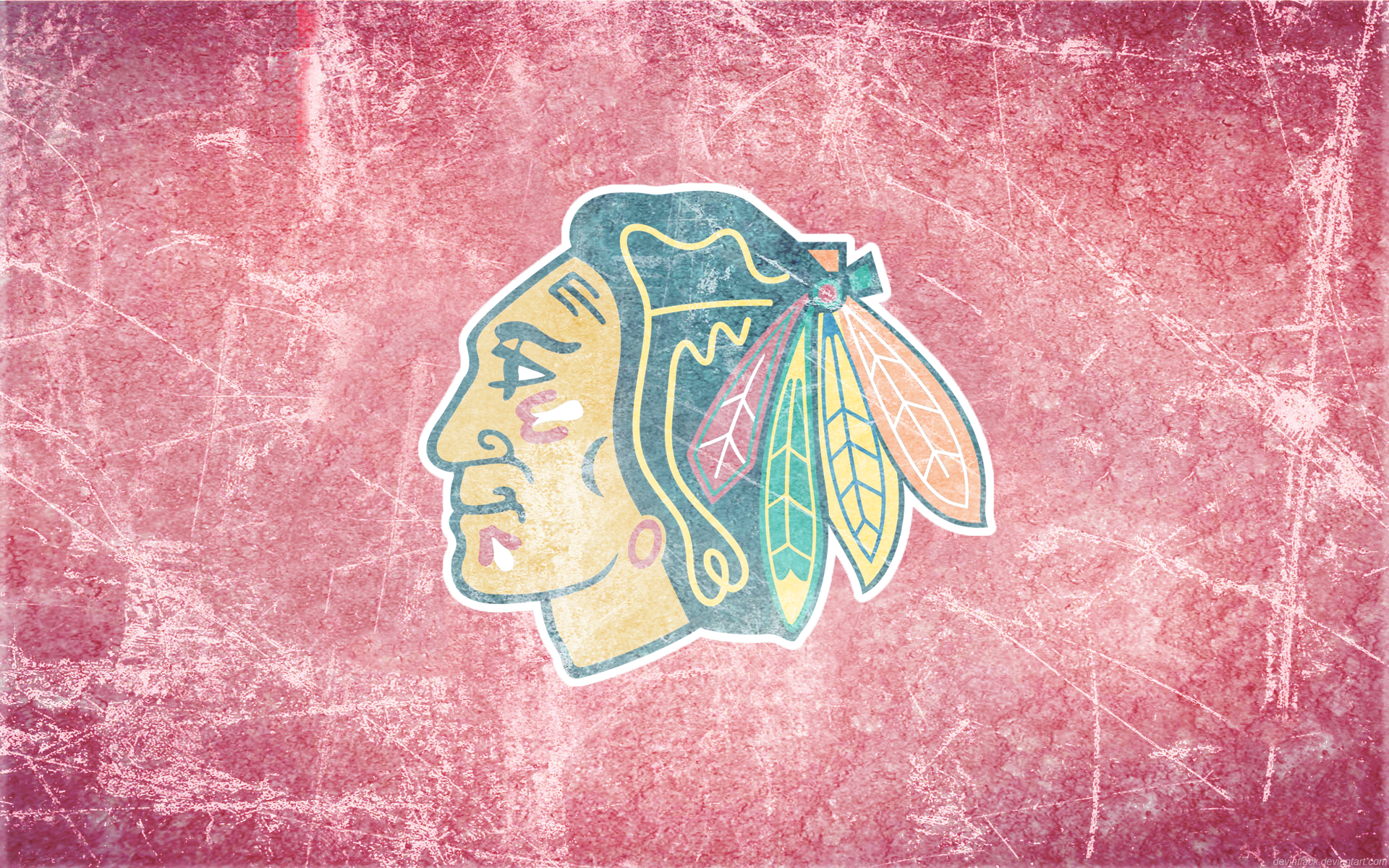 pink 3d chicago blackhawks background