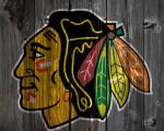 black chicago blackhawks background