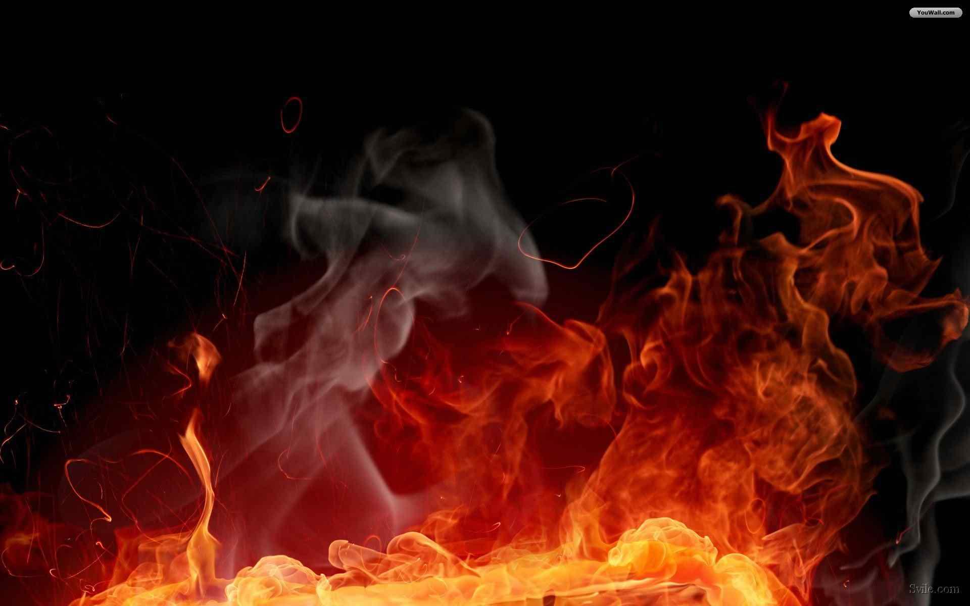 digital fire wallpaper