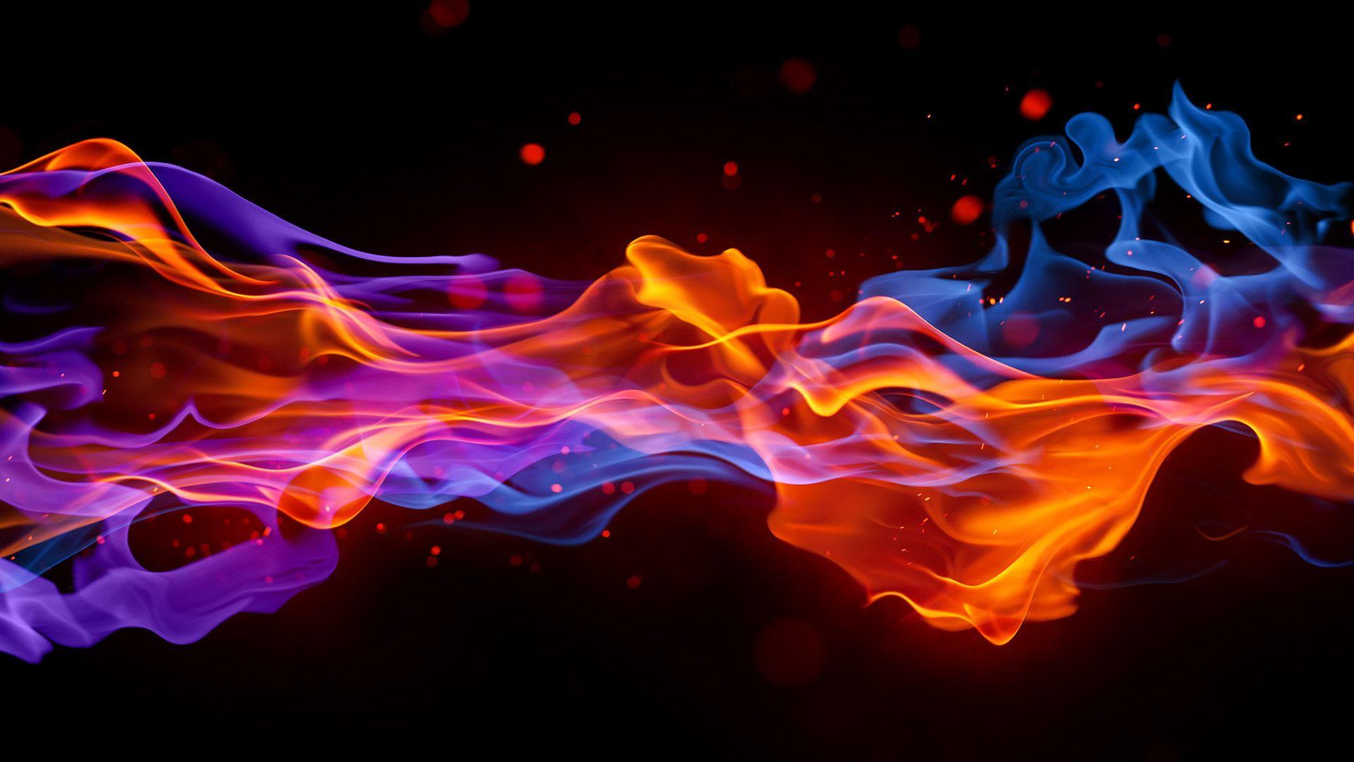 cool fire wallpaper hd