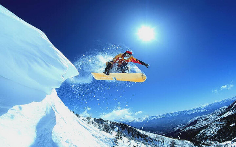 awesome jump snowboarding image