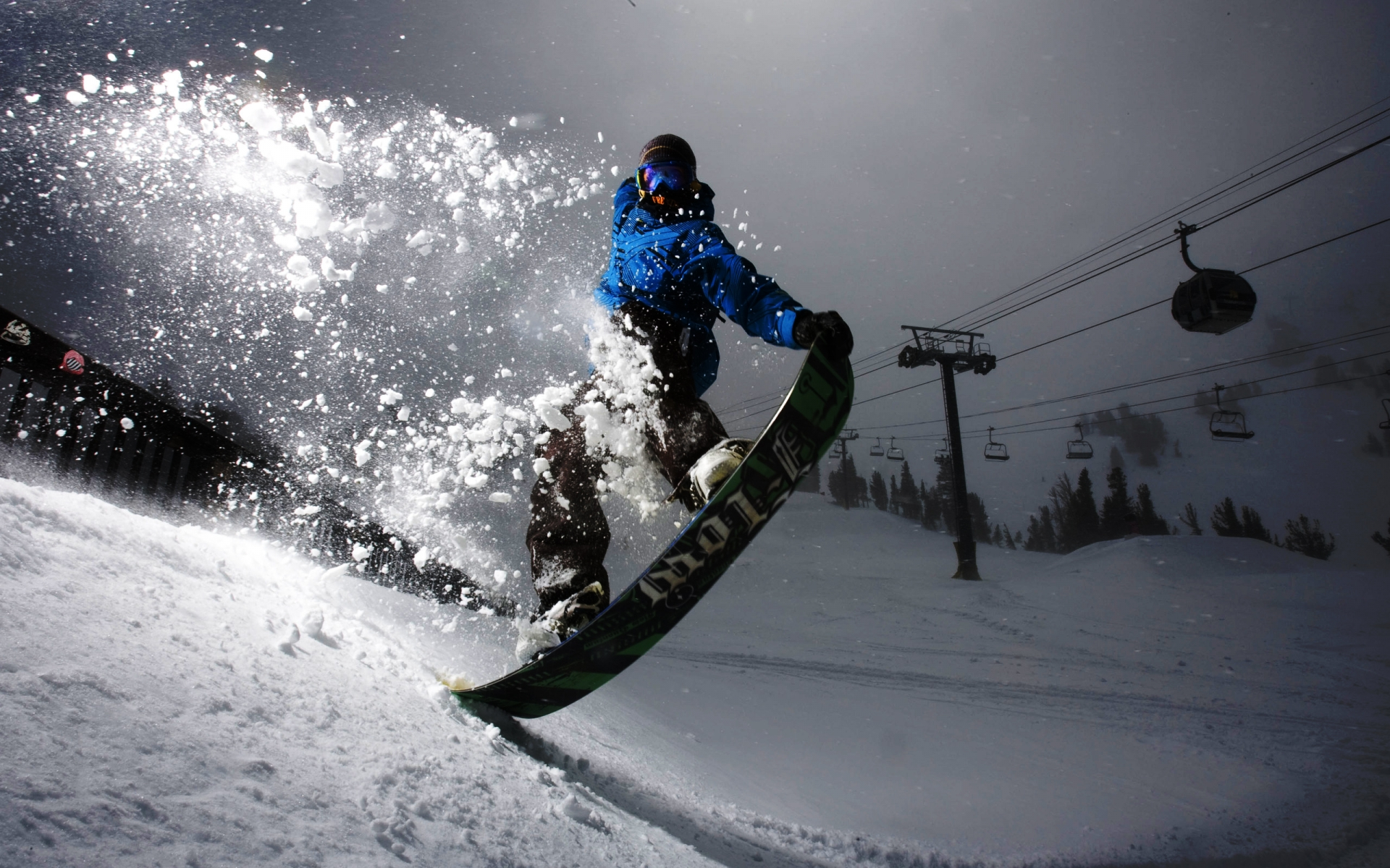 wonderful jumping snowboarding