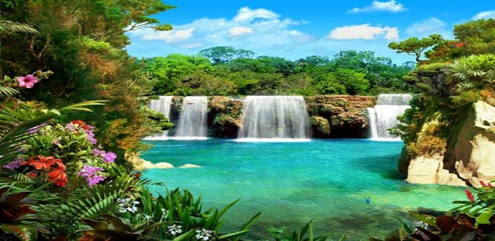 3d beautiful hd waterfall