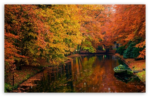 lake in autumn landscape