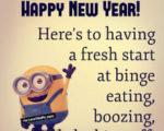 happy new year funny minion quote
