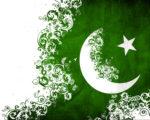 green and white pakistan flag