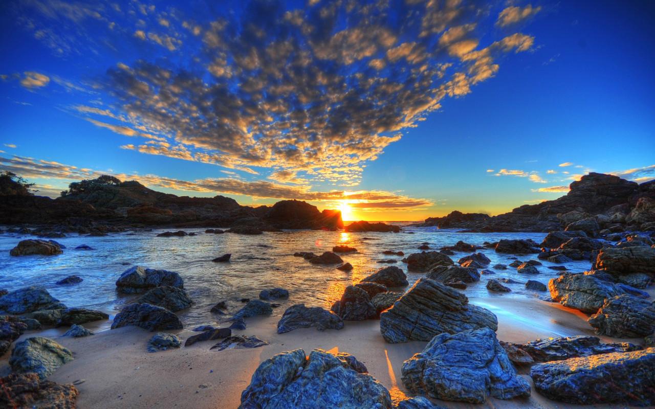 sundown HDR nature background