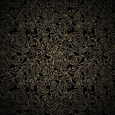 black pattern vintage image