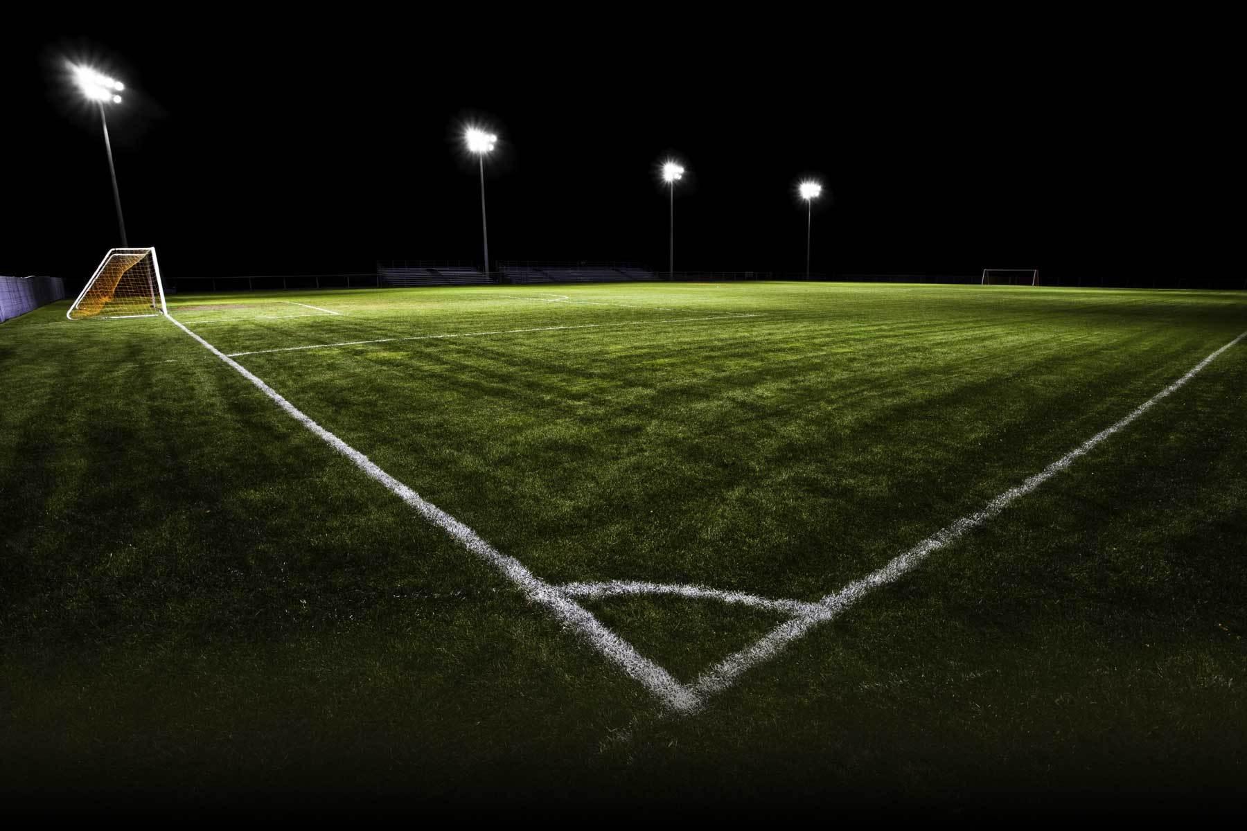 soccer field night image