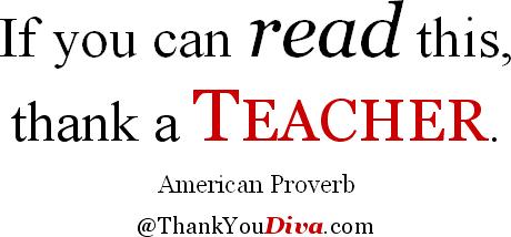quote read thank teacher american