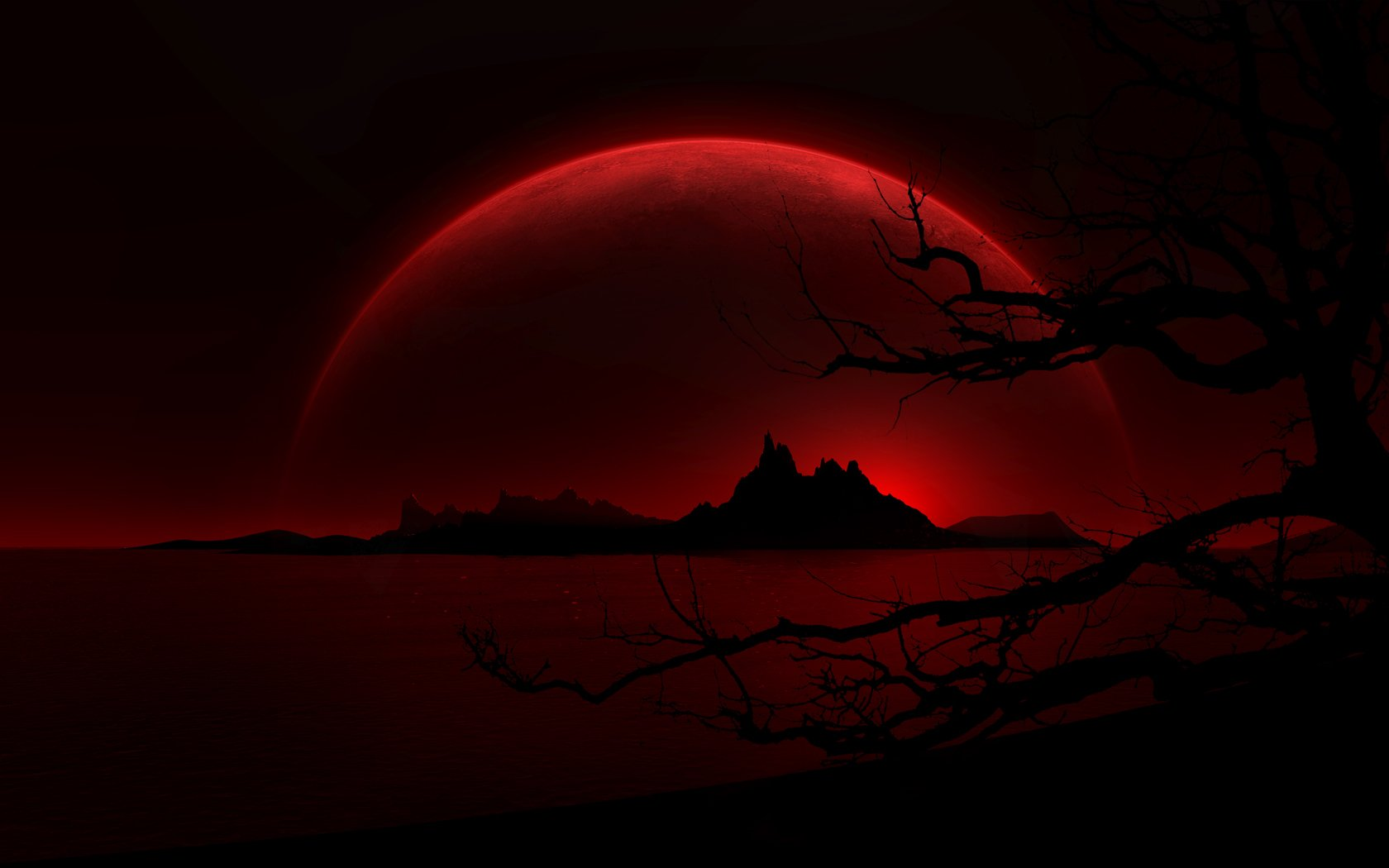 sundown dark background