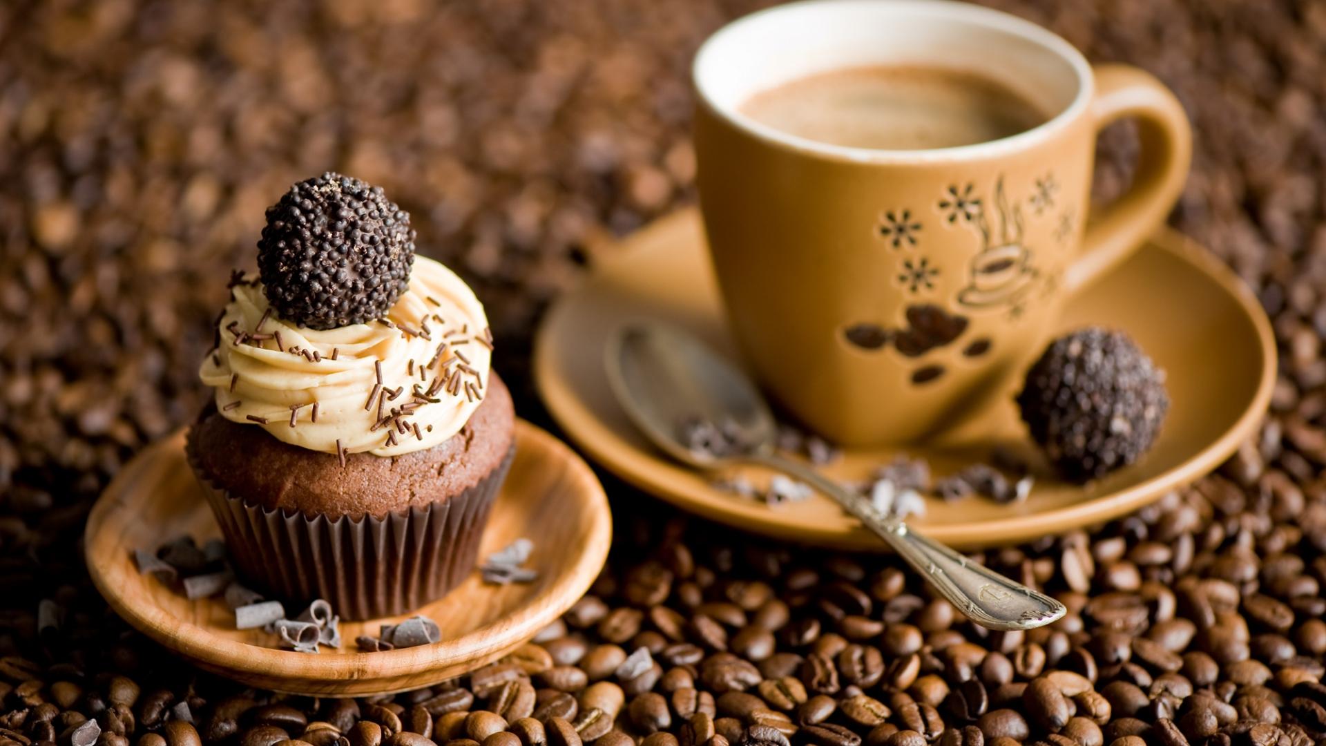 coffee beans cupcake image