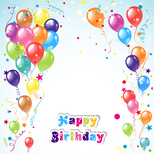 balloon ribon happy birthday image
