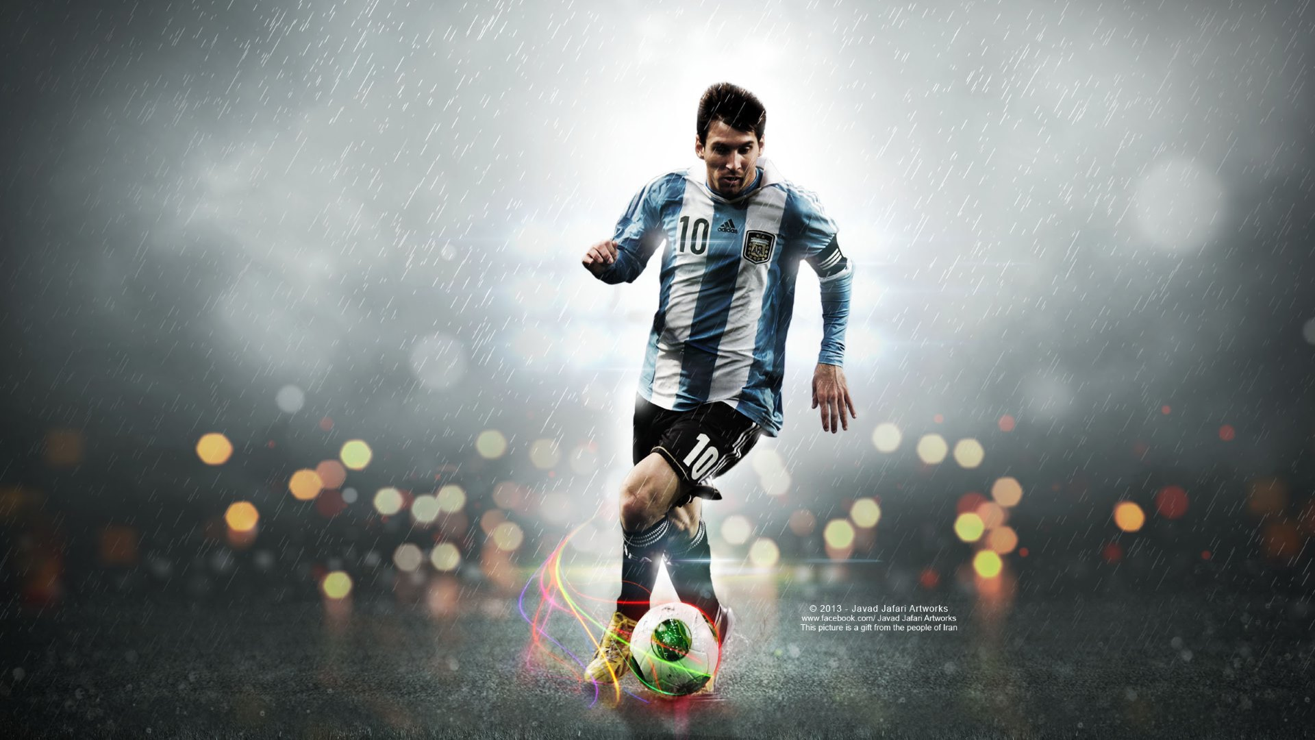 play ball HD messi image