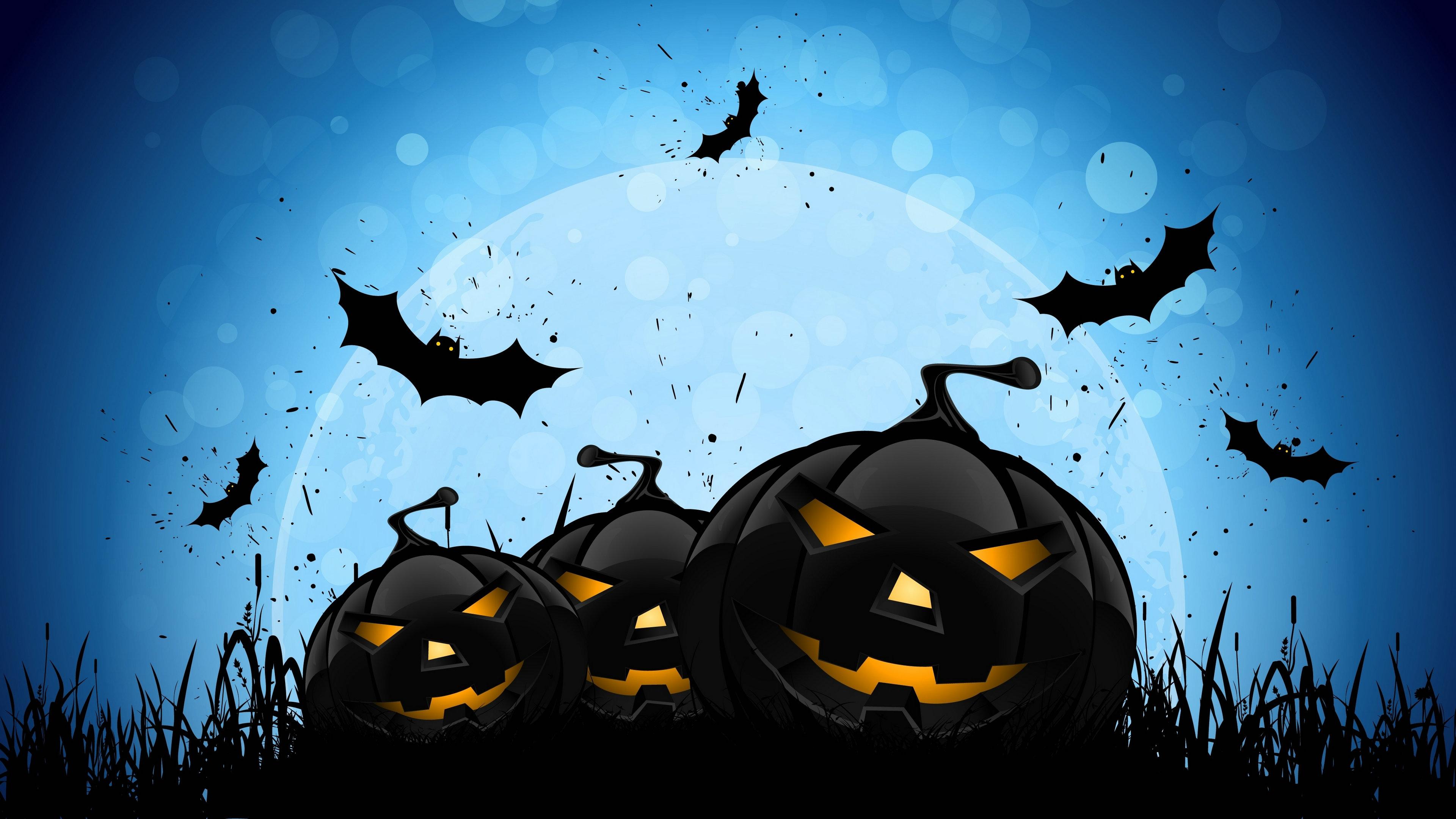 black hd halloween image