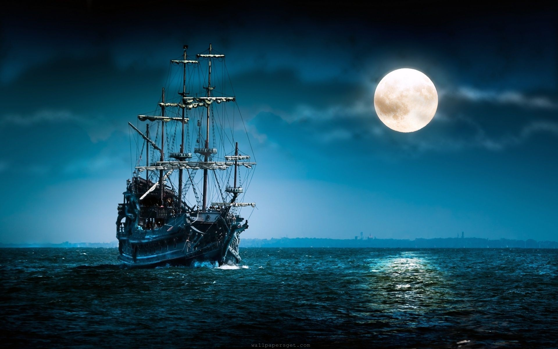 beautiful moon nature image