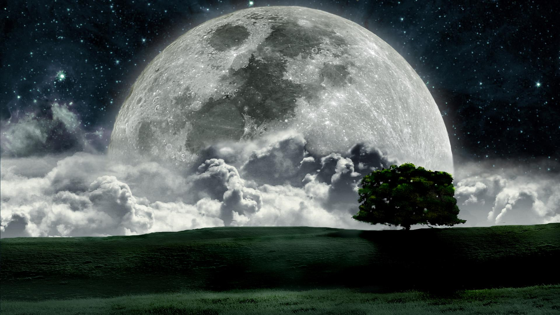 moon night abstract image
