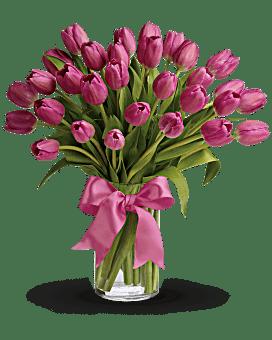 natural pink tulips