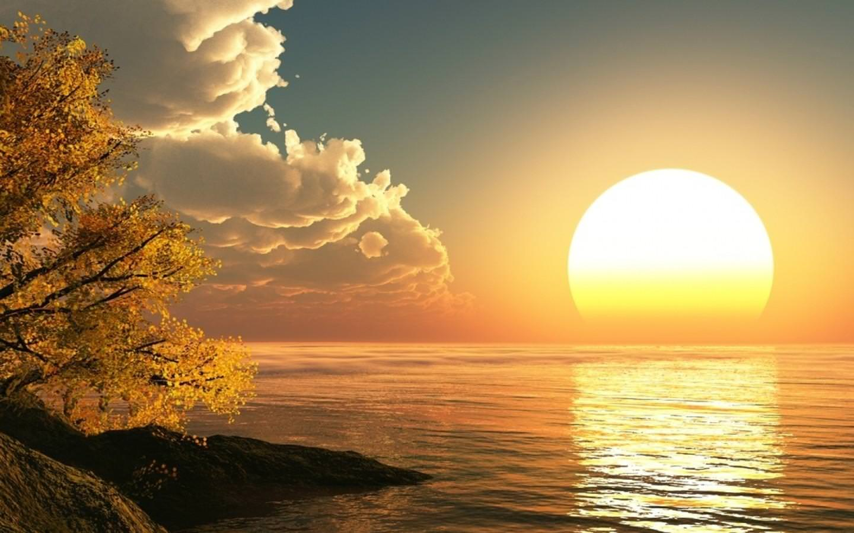 reallistic natural sunrise image