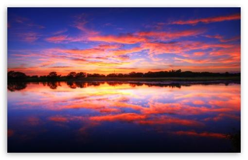 beautiful natural sunset image