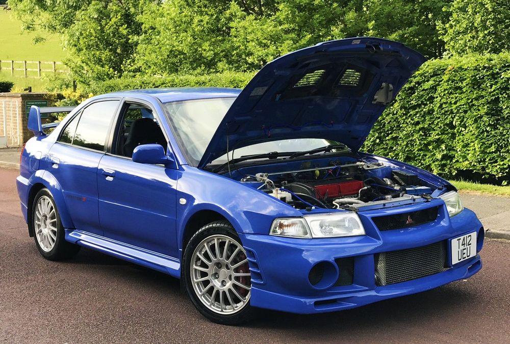blue car hd Mitsubishi Evolution