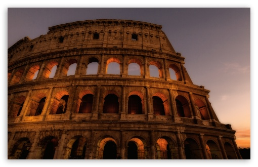 wallpaper of colosseum amphitheatre