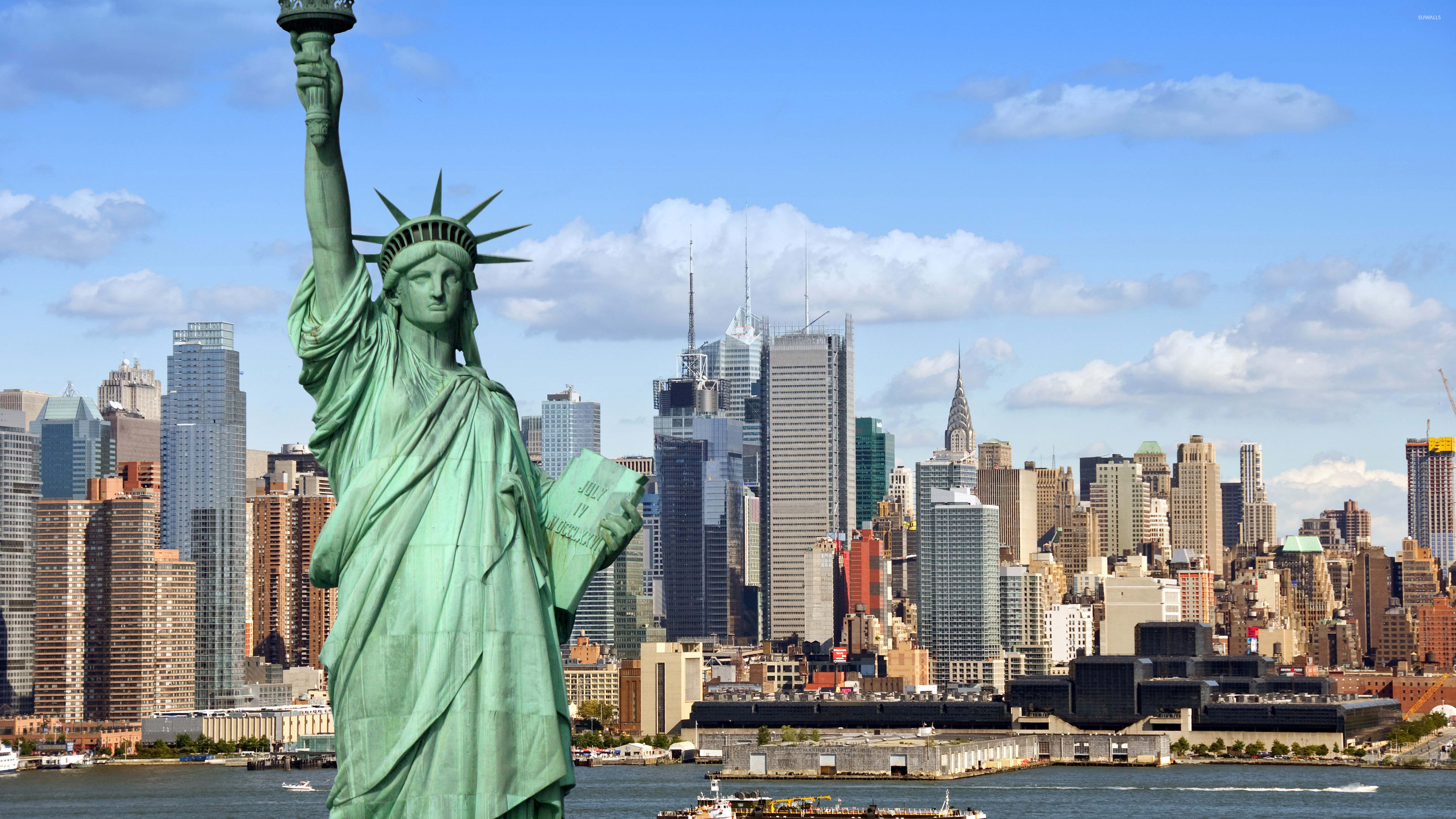 landscape Statue of Liberty Wallpaper