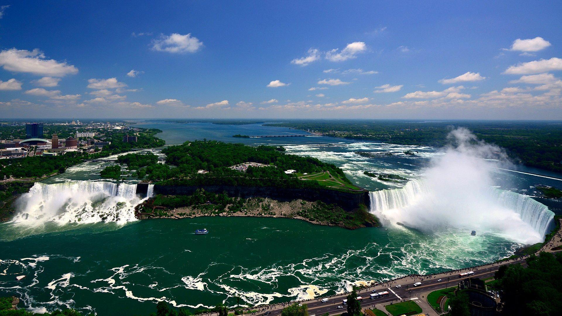 landscape American Falls Wallpaper