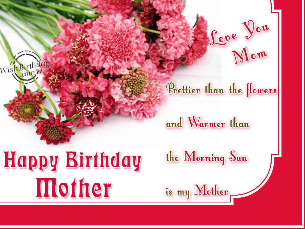 so nice Happy Birthday Mother