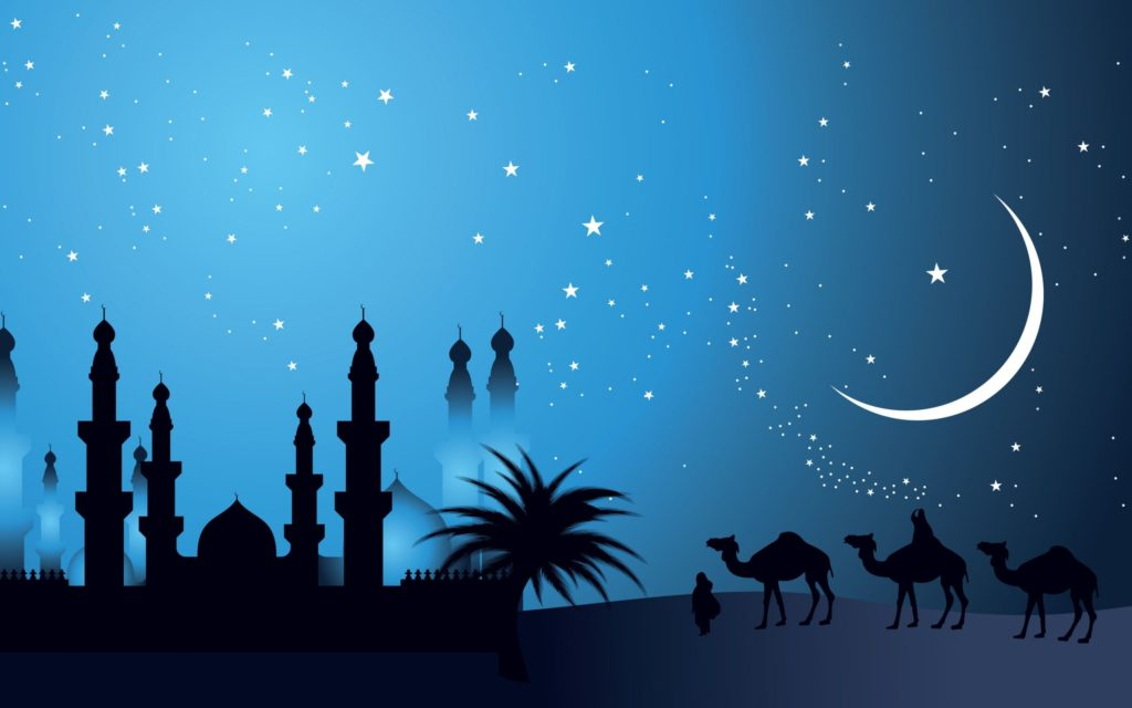nice moon HD Islamic Backgrounds