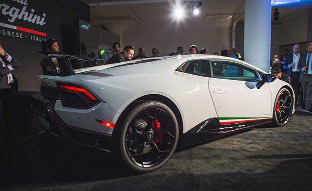 full white Lamborghini Huracan 2018
