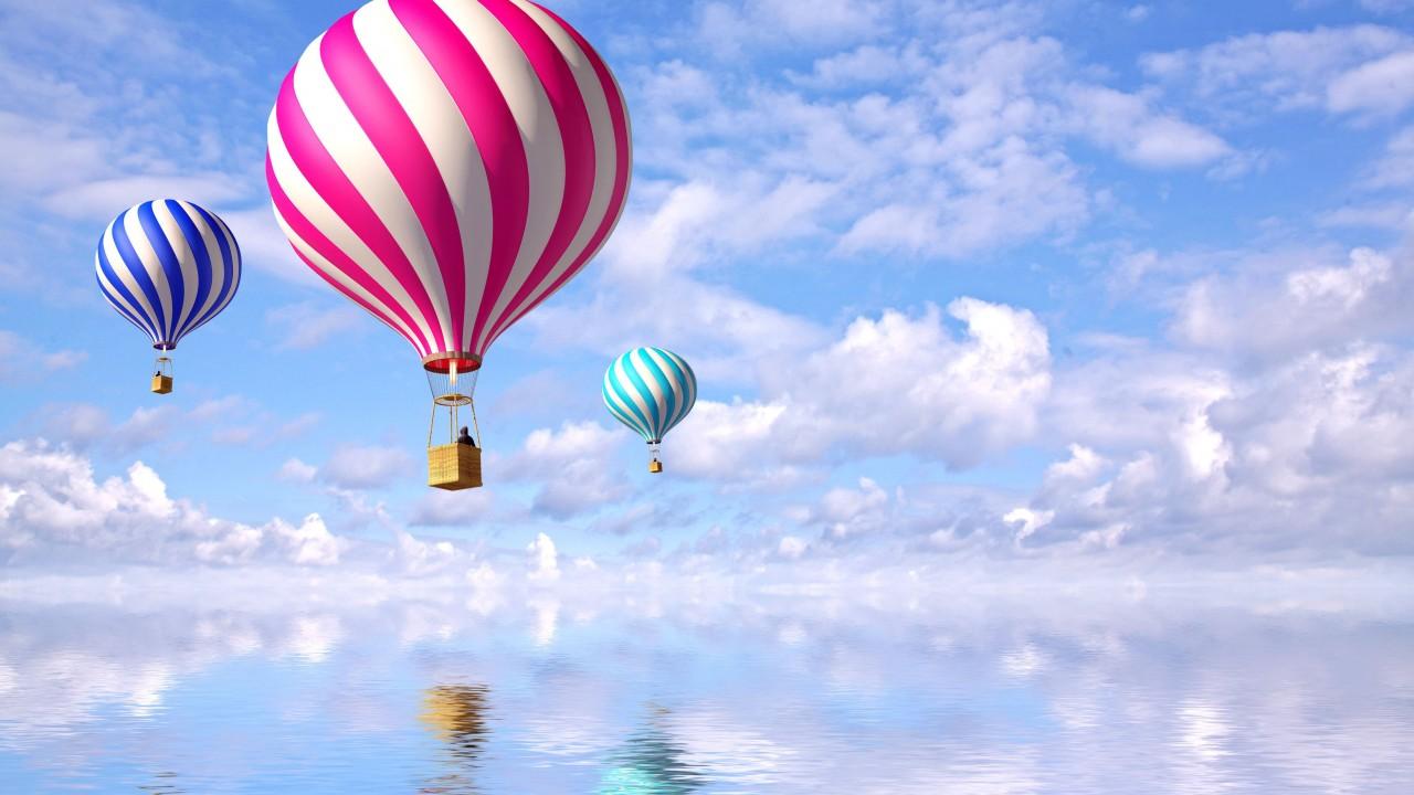 awesome hot Air Balloon Wallpaper