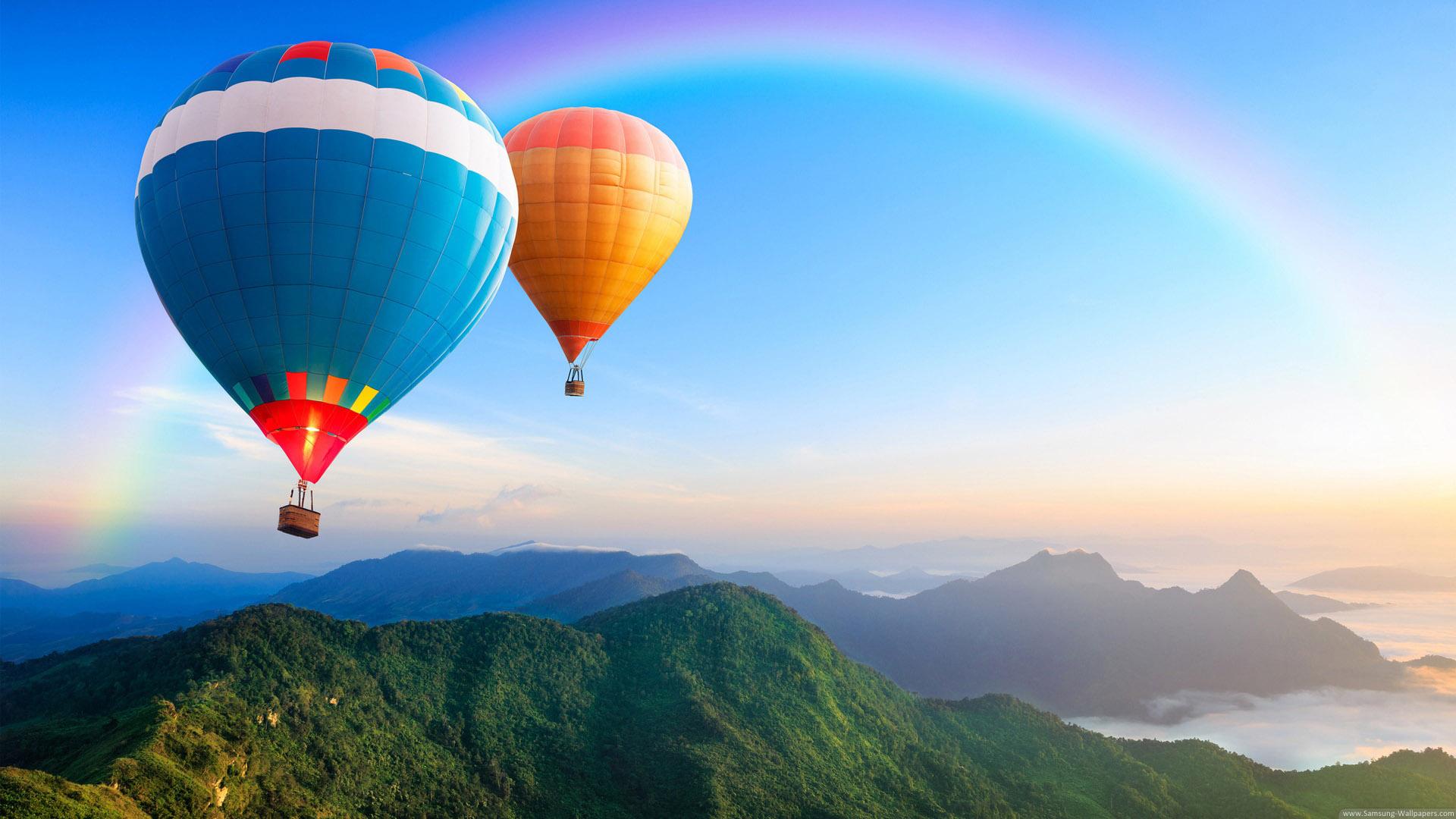 cloudy weather Air Balloon Wallpaper