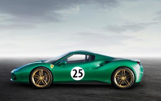 green hd Ferrari SP 38 Wallpaper