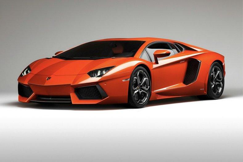 orange Lamborghini Aventador image