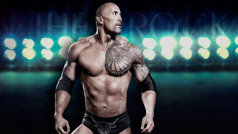 WWE wrestle The Rock Wallpaper