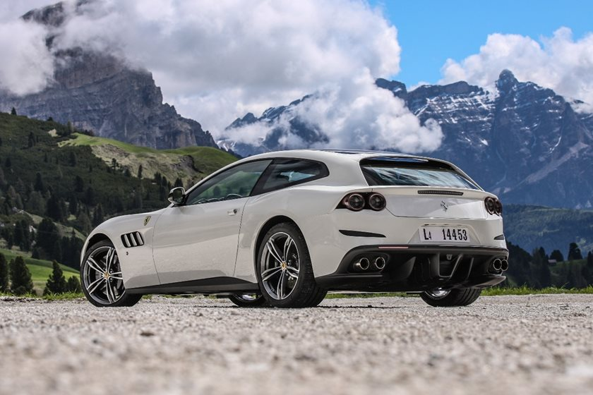 full white Ferrari GTC4Lusso 2018