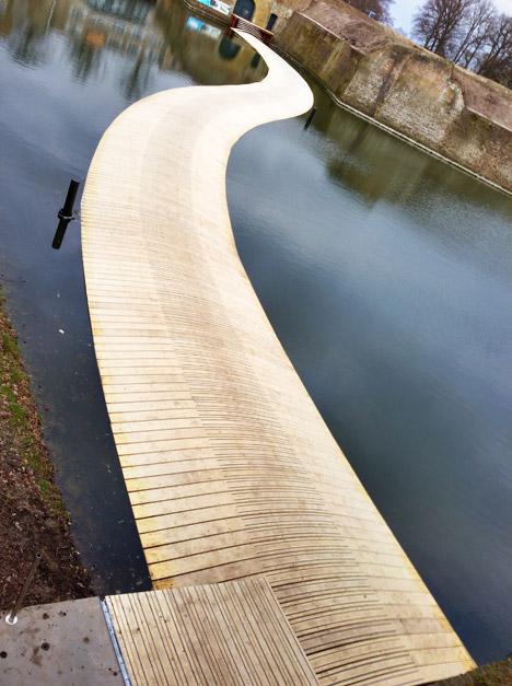 dutch floating Sunken Pedestrian Bridge