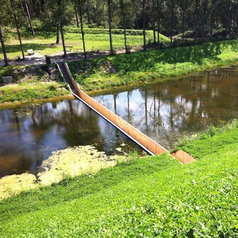 landscape nature Sunken Pedestrian Bridge