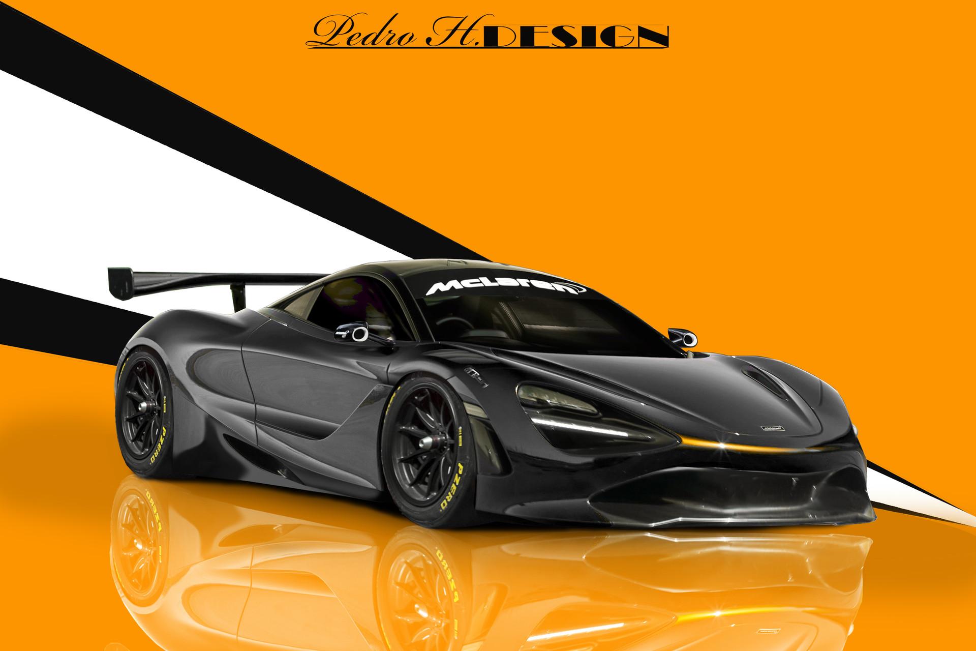 black car McLaren 720S GT3