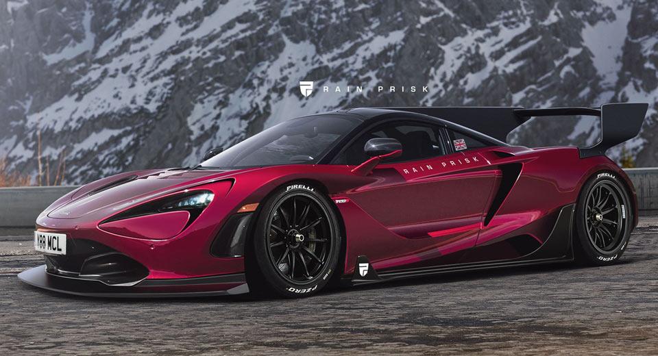 dark pink McLaren 720S GT3