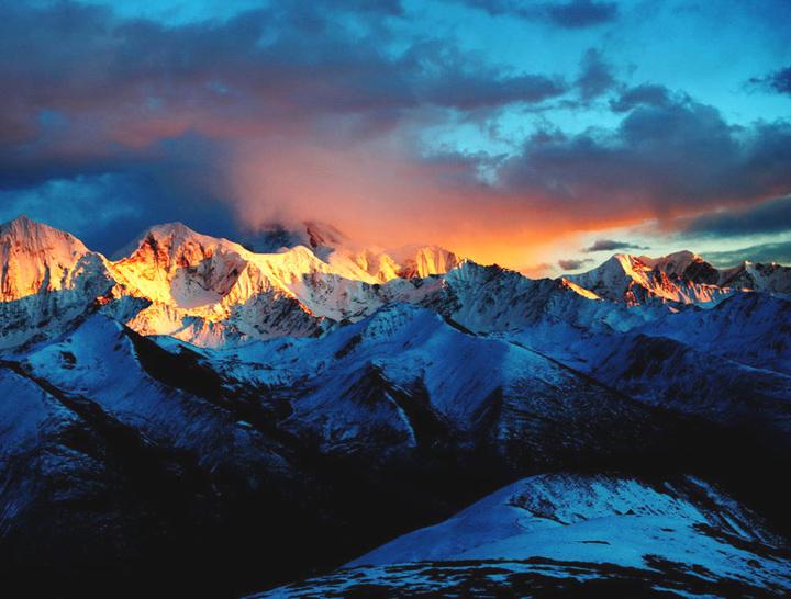 big mountain Sunset Scenery Images