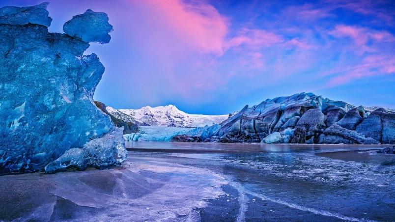 glacier iceland hd image