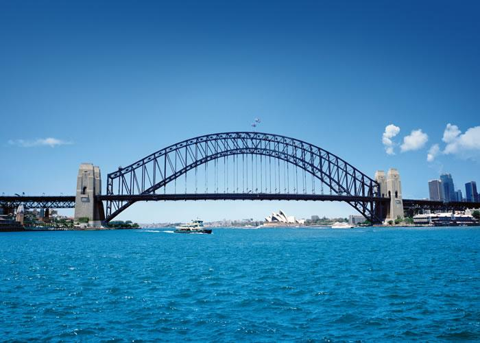 blue sea Sydney Harbour Bridge