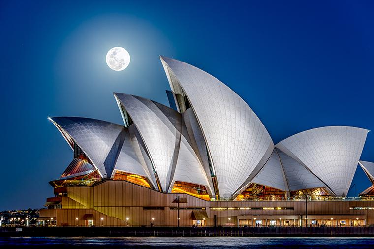 below Sydney Opera House